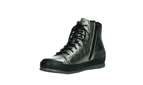 wolky lace up boots 02777 watson 30280 metal leather_10