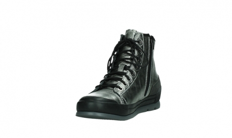 wolky lace up boots 02777 watson 30280 metal leather_9