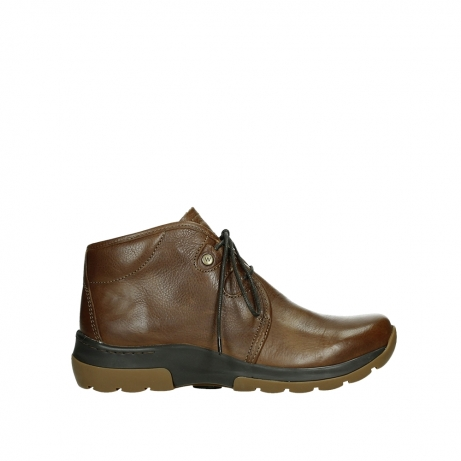 wolky lace up boots 03027 dub cw 24430 cognac leather