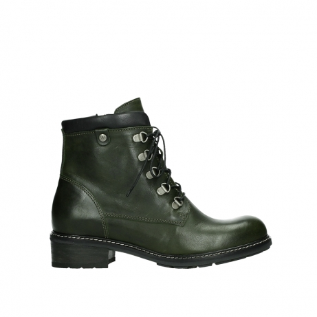 wolky lace up boots 04475 ronda 30730 forest green leather
