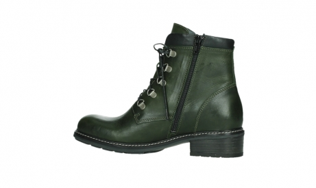 wolky lace up boots 04475 ronda 30730 forest green leather_14
