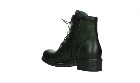 wolky lace up boots 04475 ronda 30730 forest green leather_16