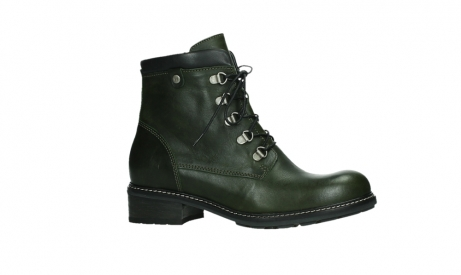 wolky lace up boots 04475 ronda 30730 forest green leather_2