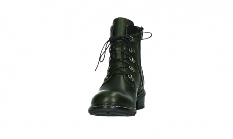 wolky lace up boots 04475 ronda 30730 forest green leather_8