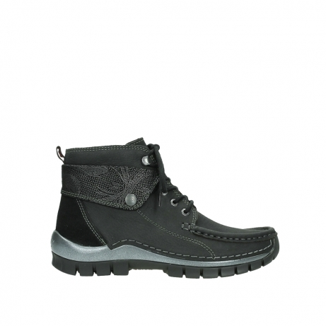 wolky lace up boots 04725 jump winter 14000 black palmmetal suede