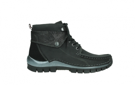 wolky lace up boots 04725 jump winter 14000 black palmmetal suede_1