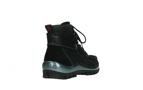 wolky lace up boots 04725 jump winter 14000 black palmmetal suede_21