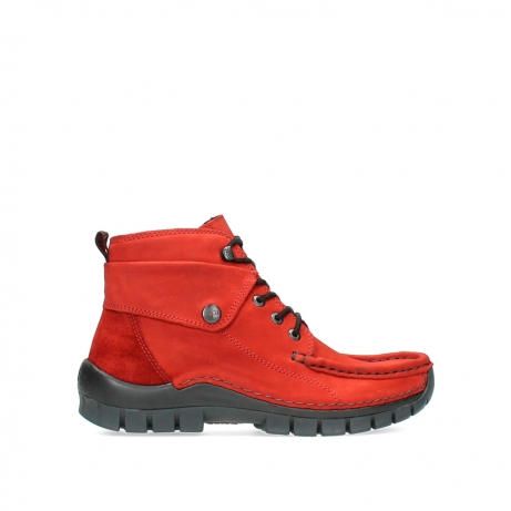 wolky lace up boots 04725 jump winter 16505 dark red nubuck