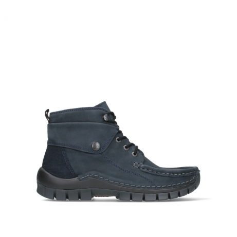 wolky lace up boots 04725 jump 16800 blue nubuck