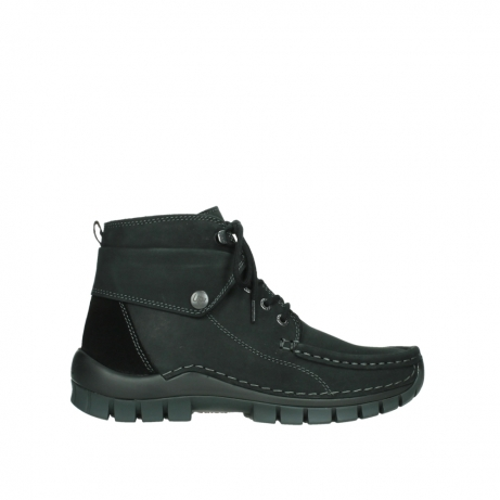 wolky lace up boots 04725 jump 50000 black oiled nubuck