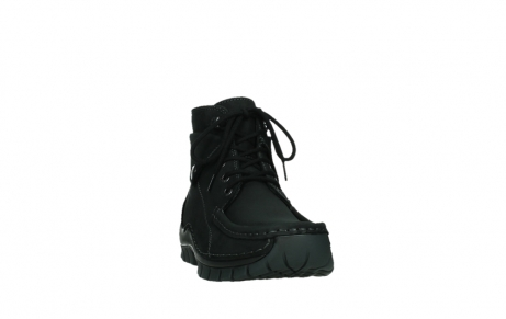wolky lace up boots 04725 jump 50000 black oiled nubuck_6