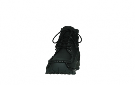 wolky lace up boots 04725 jump 50000 black oiled nubuck_8