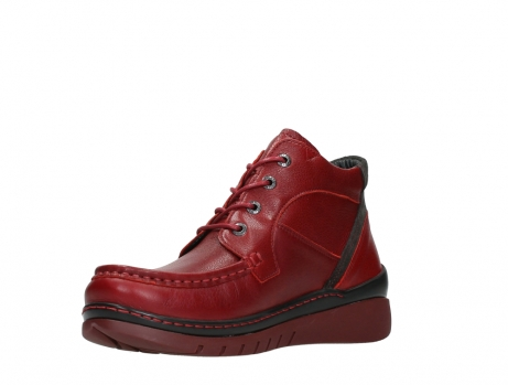 wolky lace up boots 04850 zoom 24505 dark red leather_10