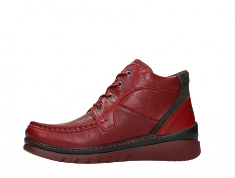 wolky lace up boots 04850 zoom 24505 dark red leather_12