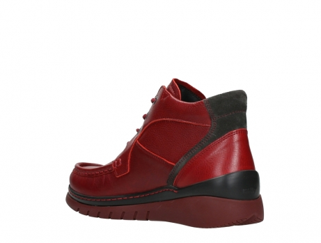 wolky lace up boots 04850 zoom 24505 dark red leather_16