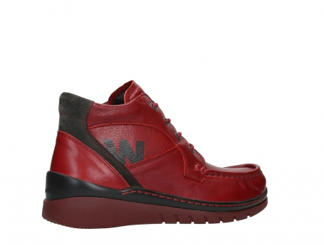 wolky lace up boots 04850 zoom 24505 dark red leather_23
