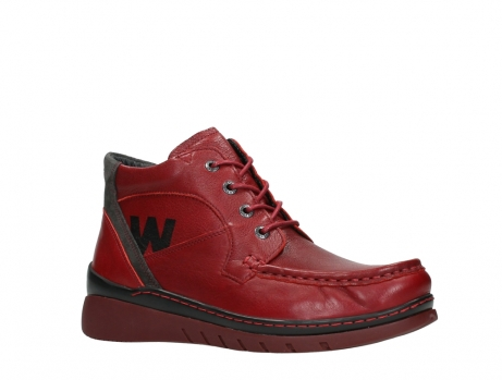 wolky lace up boots 04850 zoom 24505 dark red leather_3