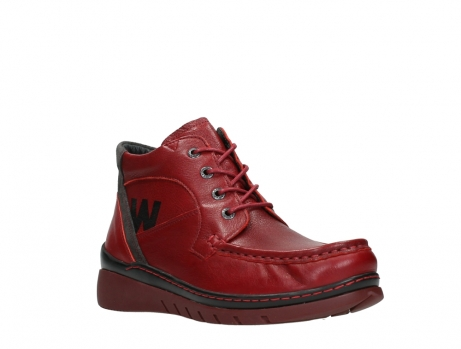 wolky lace up boots 04850 zoom 24505 dark red leather_4