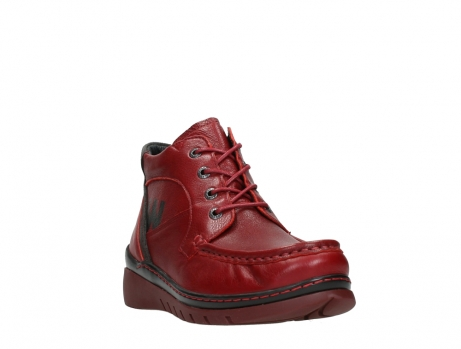 wolky lace up boots 04850 zoom 24505 dark red leather_5