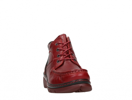 wolky lace up boots 04850 zoom 24505 dark red leather_6