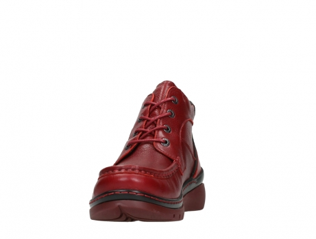 wolky lace up boots 04850 zoom 24505 dark red leather_8