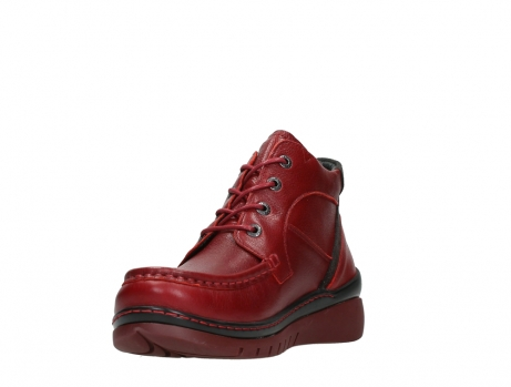 wolky lace up boots 04850 zoom 24505 dark red leather_9