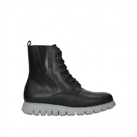 wolky lace up boots 05027 starlight 30000 black leather