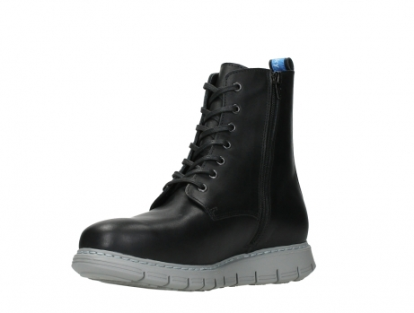 wolky lace up boots 05027 starlight 30000 black leather_10