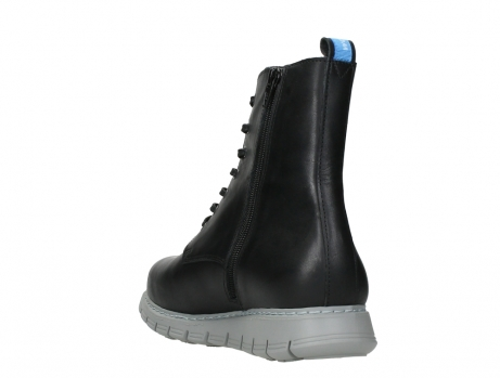 wolky lace up boots 05027 starlight 30000 black leather_17