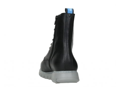 wolky lace up boots 05027 starlight 30000 black leather_18