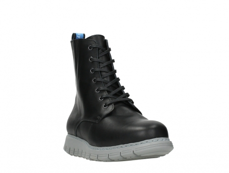 wolky lace up boots 05027 starlight 30000 black leather_5