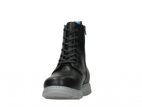 wolky lace up boots 05027 starlight 30000 black leather_8