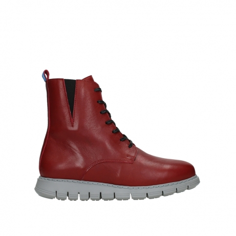wolky lace up boots 05027 starlight 30500 red leather