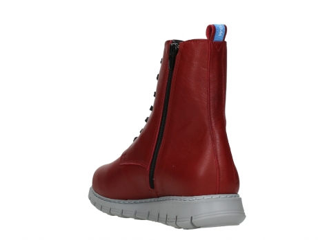 wolky lace up boots 05027 starlight 30500 red leather_17