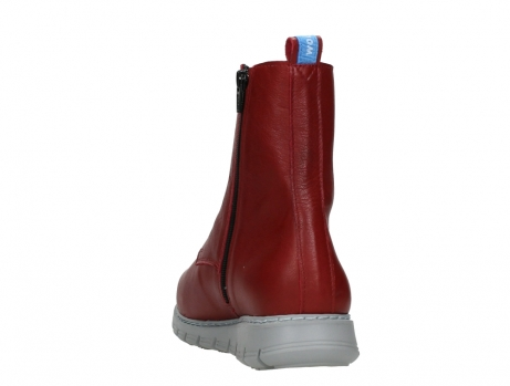 wolky lace up boots 05027 starlight 30500 red leather_18