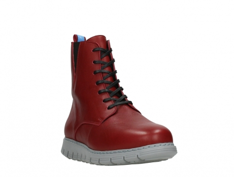 wolky lace up boots 05027 starlight 30500 red leather_5