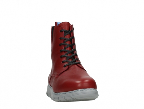 wolky lace up boots 05027 starlight 30500 red leather_6