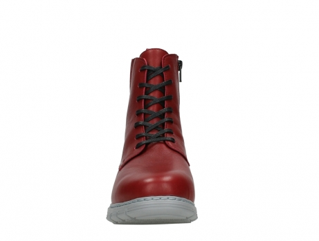 wolky lace up boots 05027 starlight 30500 red leather_7
