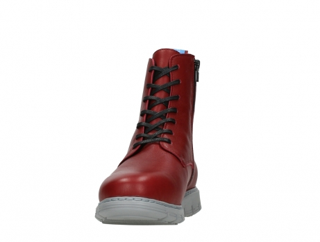 wolky lace up boots 05027 starlight 30500 red leather_8