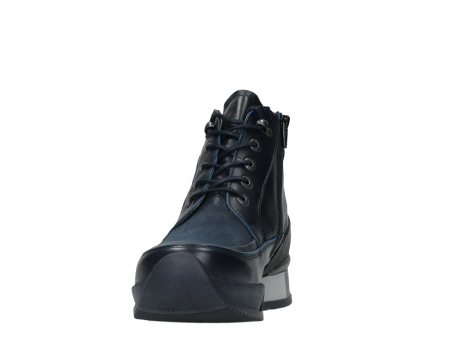 wolky lace up boots 05881 victoria 24800 blue stretch leather_8