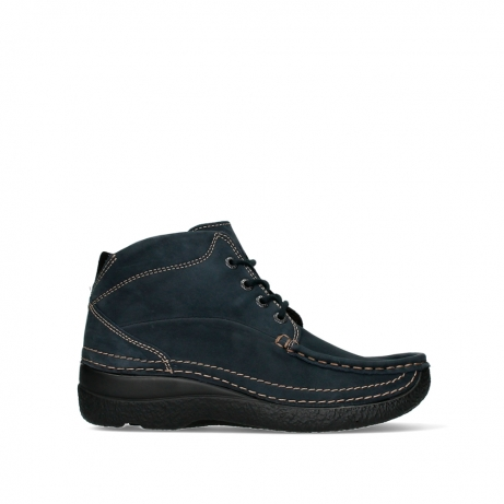 wolky lace up boots 06242 roll shoot 16800 blue nubuck