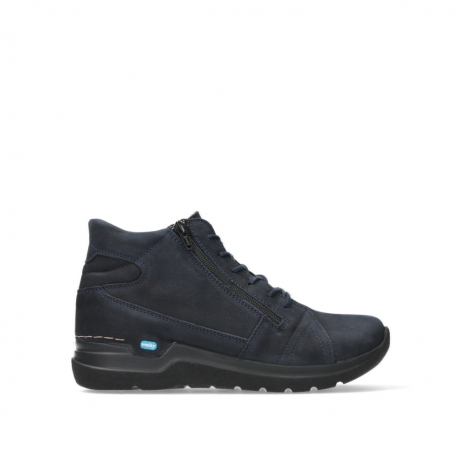 wolky lace up boots 06606 why 11800 blue nubuck