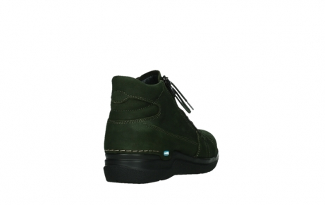 wolky lace up boots 06606 why 11735 forest green nubuck_21
