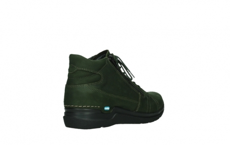 wolky lace up boots 06606 why 11735 forest green nubuck_22