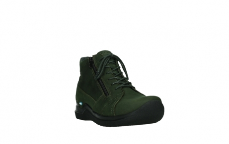 wolky lace up boots 06606 why 11735 forest green nubuck_5