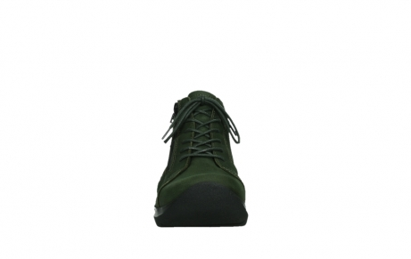 wolky lace up boots 06606 why 11735 forest green nubuck_7