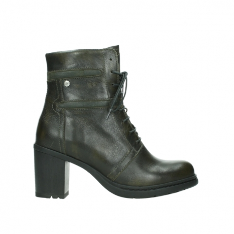 wolky ankle boots 08064 shalkar 27775 military green effect leather