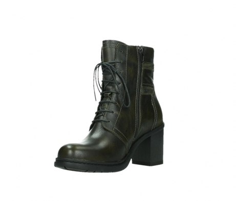 wolky ankle boots 08064 shalkar 27775 military green effect leather_10