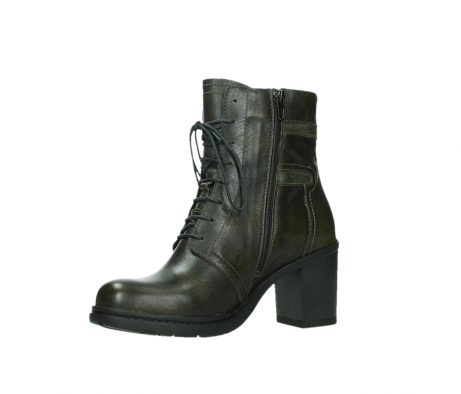 wolky ankle boots 08064 shalkar 27775 military green effect leather_11