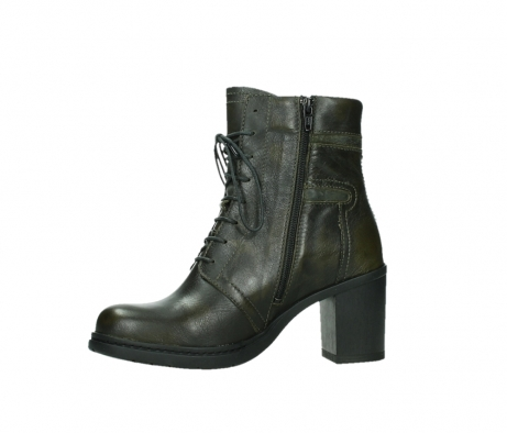 wolky ankle boots 08064 shalkar 27775 military green effect leather_12